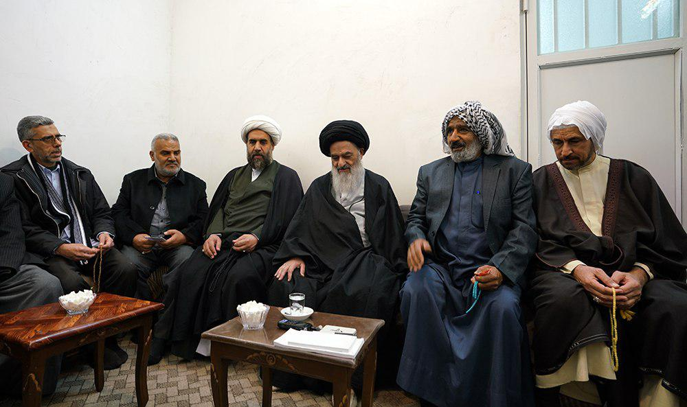 Photo of Religious activists from Hoveyzeh City meet with Grand Ayatollah Shirazi