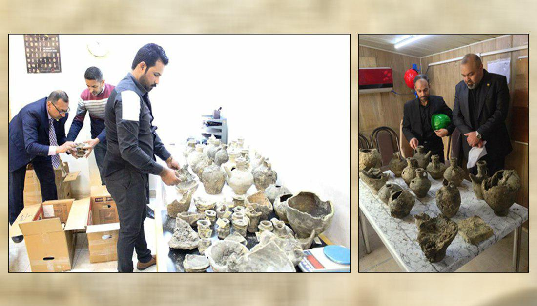 Photo of Antiquities found near Imam Hussein Shrine