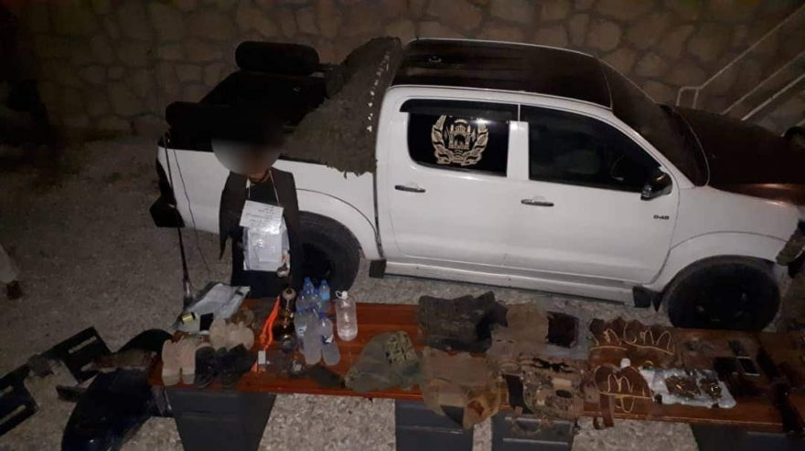 Photo of Police discovers alcohol, weapons in detained Taliban commander's compound in Balkh