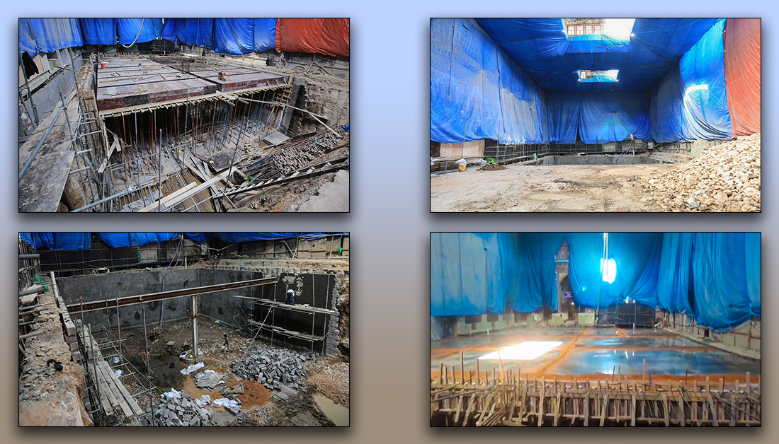 Photo of Largest basement project at Imam Hussain Shrine nearing completion