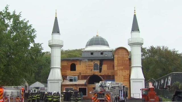 Photo of Fire Chief: Fire at New Haven Mosque was intentionally set