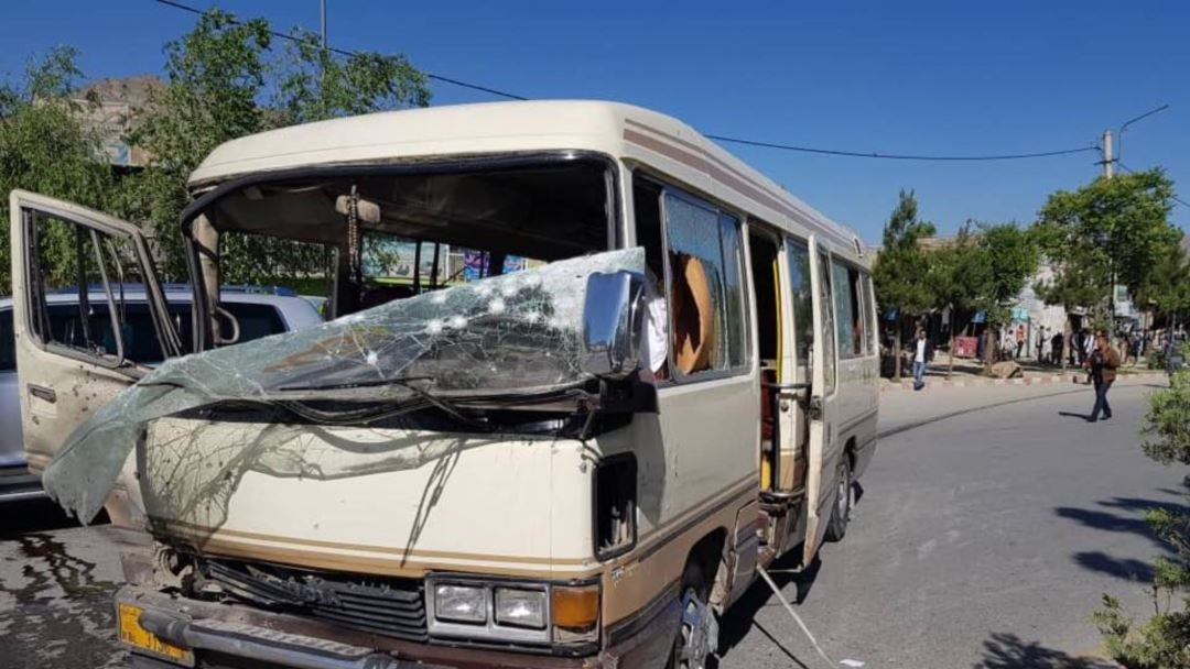 Photo of Ten injured in government workers' bus explosion in Afghan capital: official