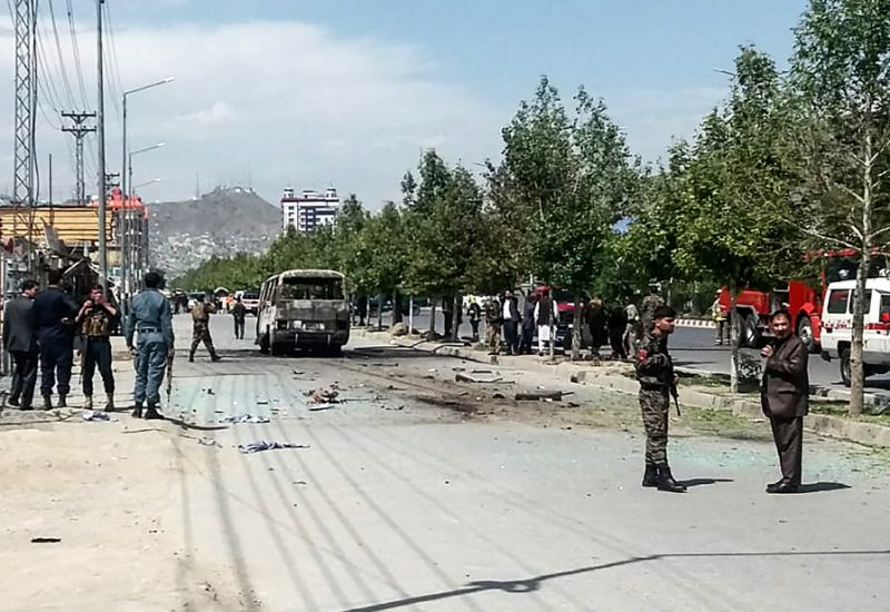 Photo of At least four killed as government bus hit in Kabul blast