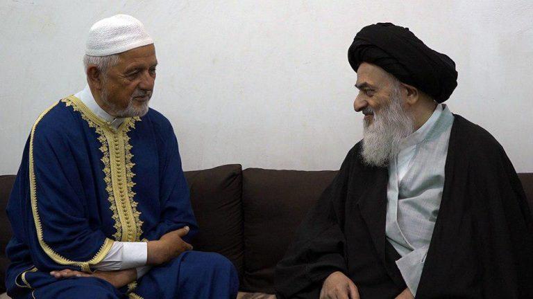 Photo of Abdolsalam Mohammad Ansari meets with Grand Ayatollah Shirazi