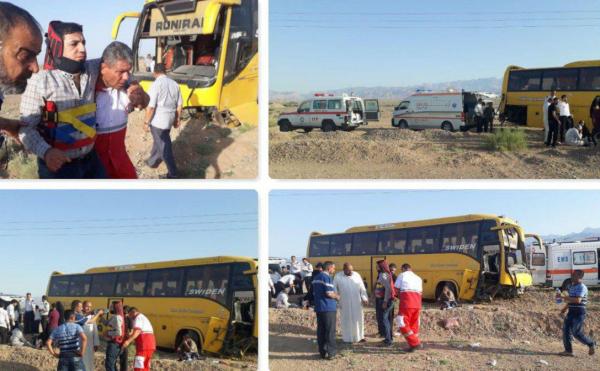 Photo of 16 Iraqi pilgrims injured in traffic accident in Iran