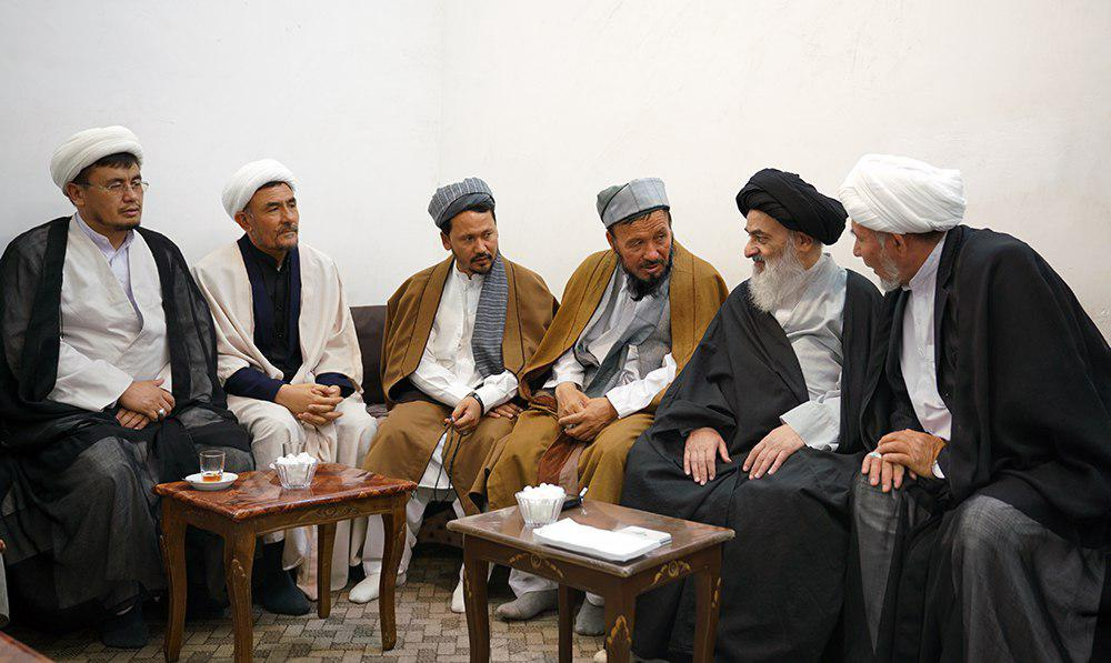 Photo of Afghan scholars and clerics meet with Grand Ayatollah Shirazi
