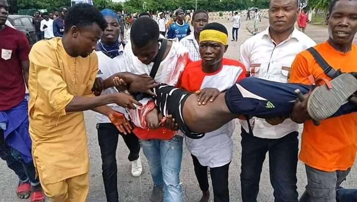 Photo of Violent clashes at Nigerian Shia protest