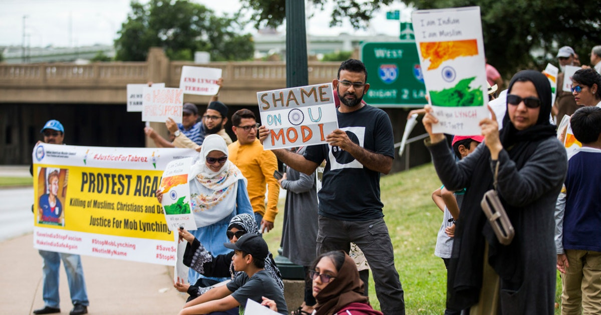 Photo of Muslims in North Texas protest religious violence in India