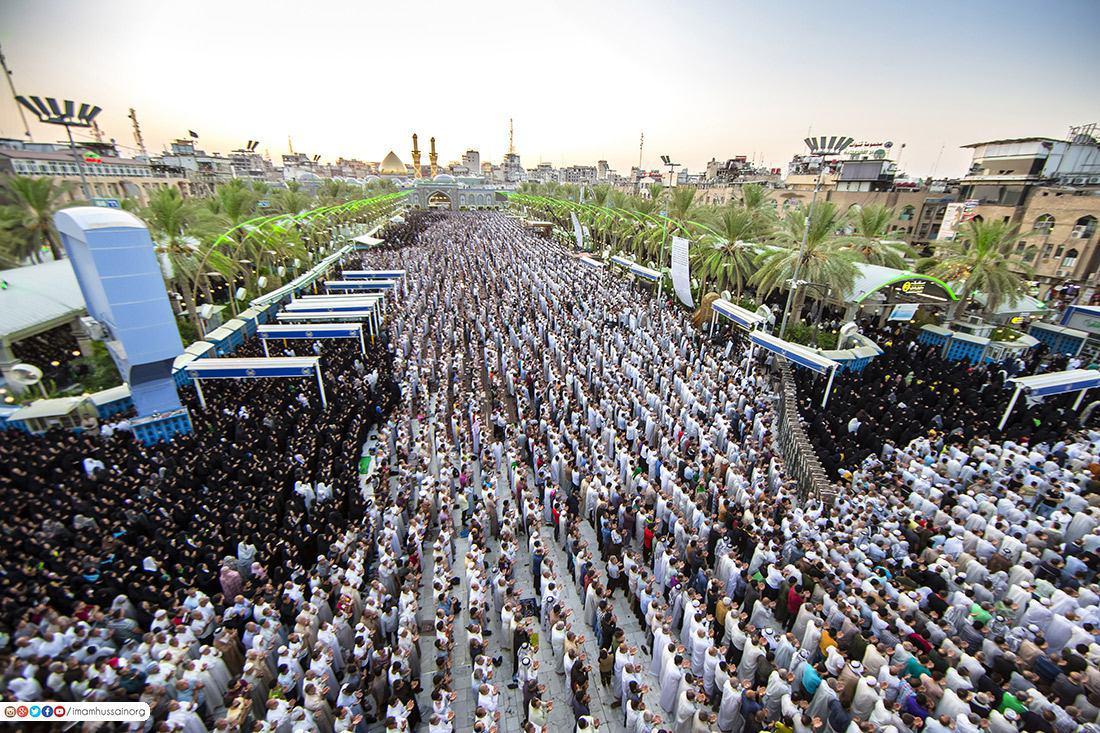 Photo of Eid prayer held in Karbala and around the world