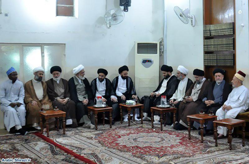 Photo of Karbala Office of Grand Ayatollah Sayed Shirazi receives figures from the Gulf, Syria and Africa