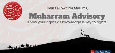 Photo of Shia Rights Watch releases Muharram 2019 Advisory