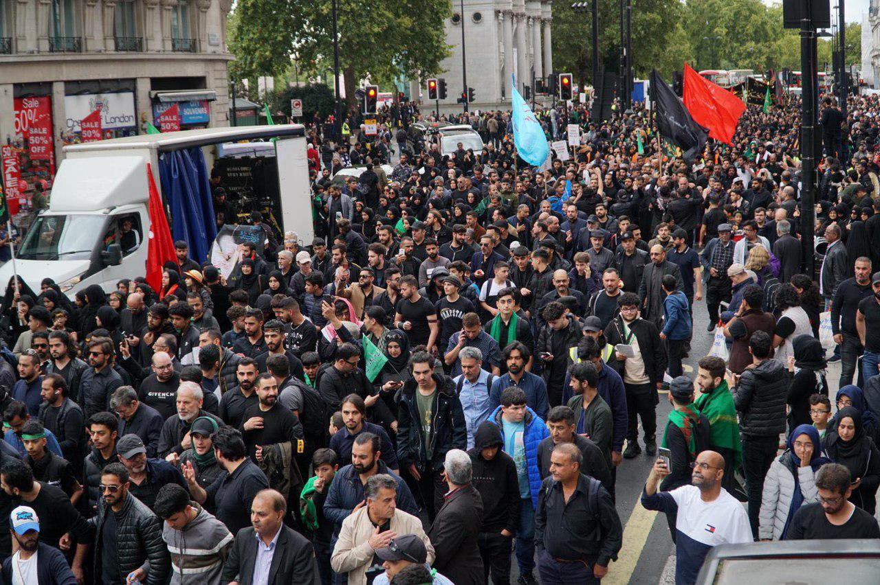 Photo of Shias Muslims hold a procession to mark Ashura in London