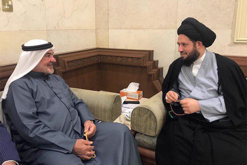 Photo of Son of Grand Ayatollah Shirazi meets Kuwaiti MP