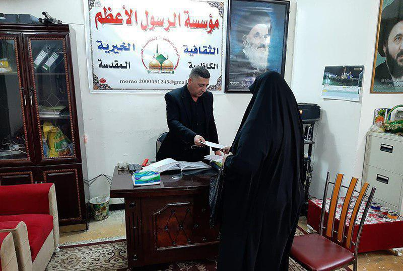 Photo of Al-Rasool al-Adham Foundation distributes monthly financial aids to families of orphans