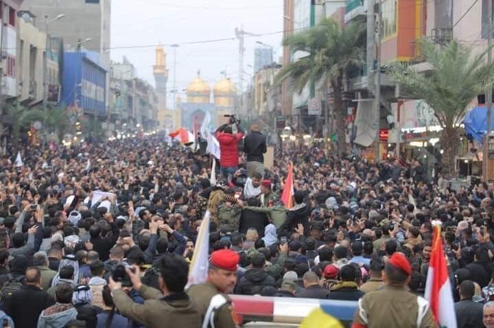Photo of Funeral processions of Abu Mahdi Al-Muhandis and Qassem Soleimani in Baghdad