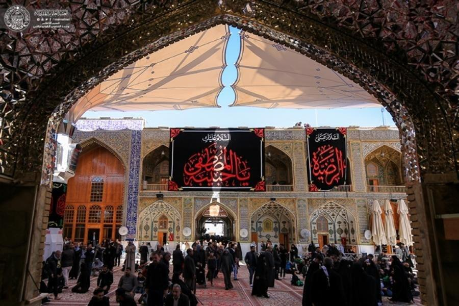 Photo of Imam Ali Holy Shrine spreads mournful banners in remembrance of the martyrdom anniversary of Lady Fatima al-Zahra
