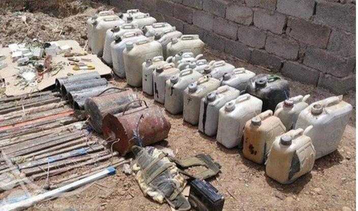Photo of Weapons cache found in Tarmiyah groves, north of Baghdad