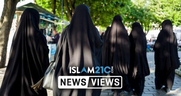 Photo of Non-Muslim teachers wear Islamic veil in protest of local 'burqa ban' in Sweden
