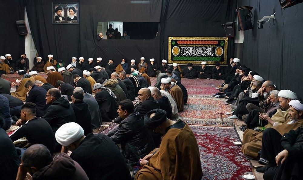 Photo of Third Fatimid Days mourning ceremonies held in the house of Grand Ayatollah Shirazi