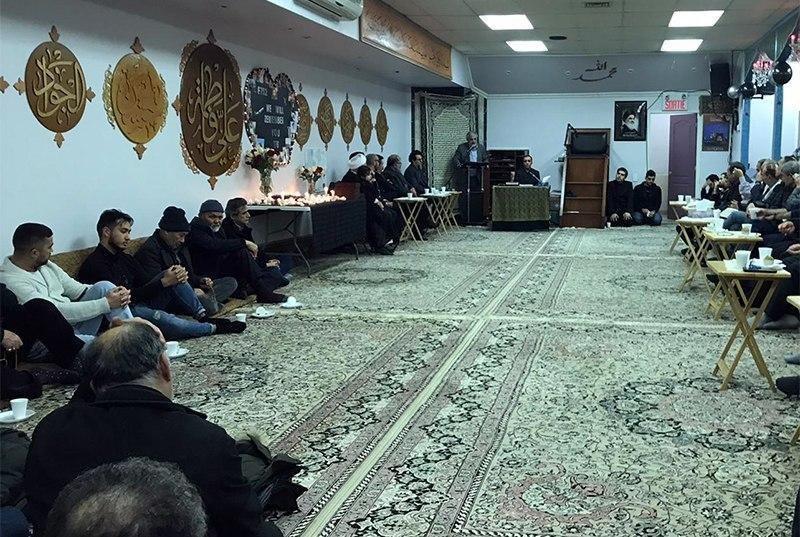 Photo of Memorial service for the Ukrainian plane victims at the Imam Shirazi World Center