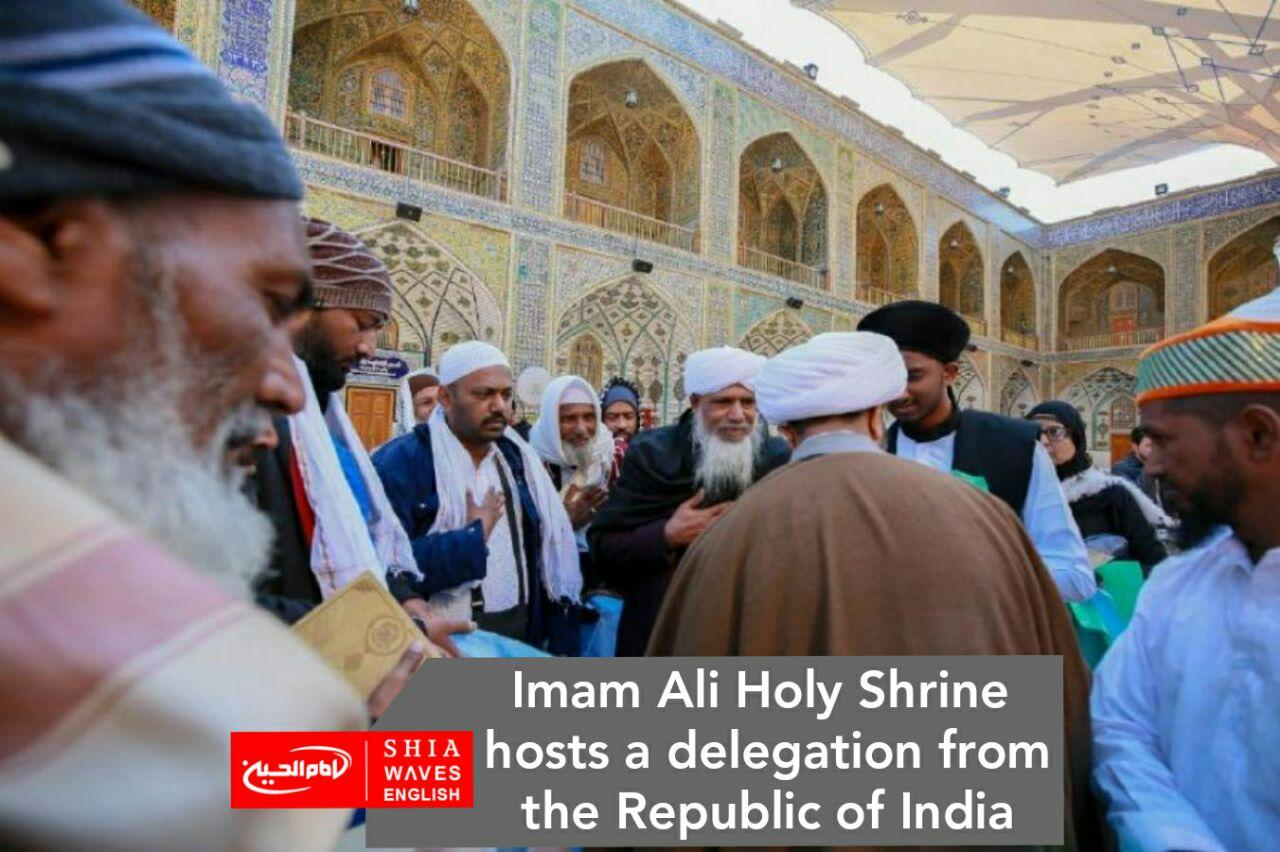 Photo of Imam Ali Holy Shrine hosts a delegation from the Republic of India