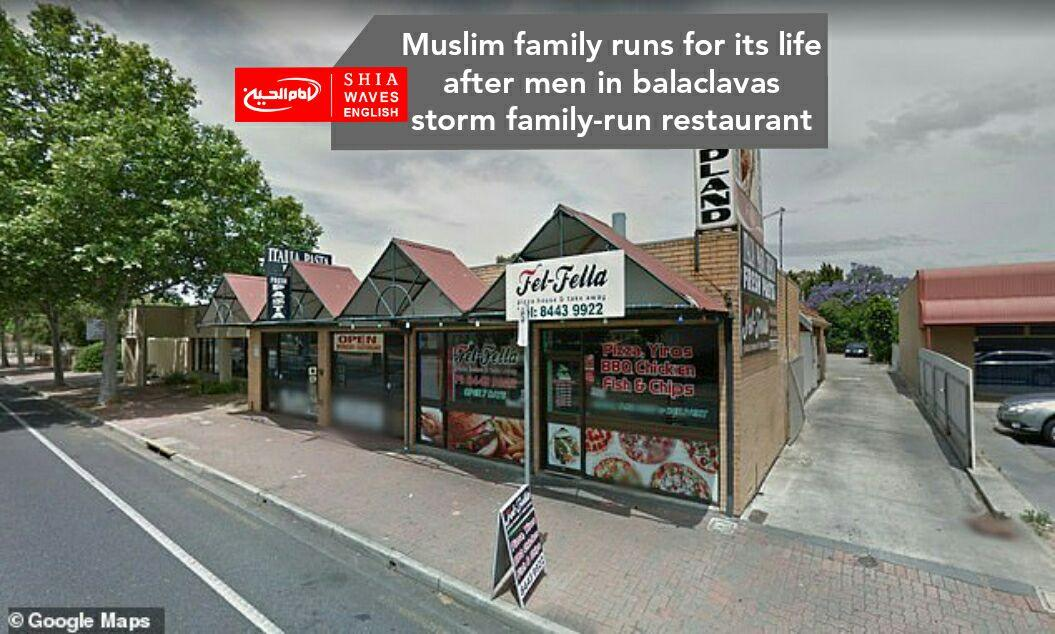 Photo of Muslim family runs for its life after men in balaclavas storm family-run restaurant
