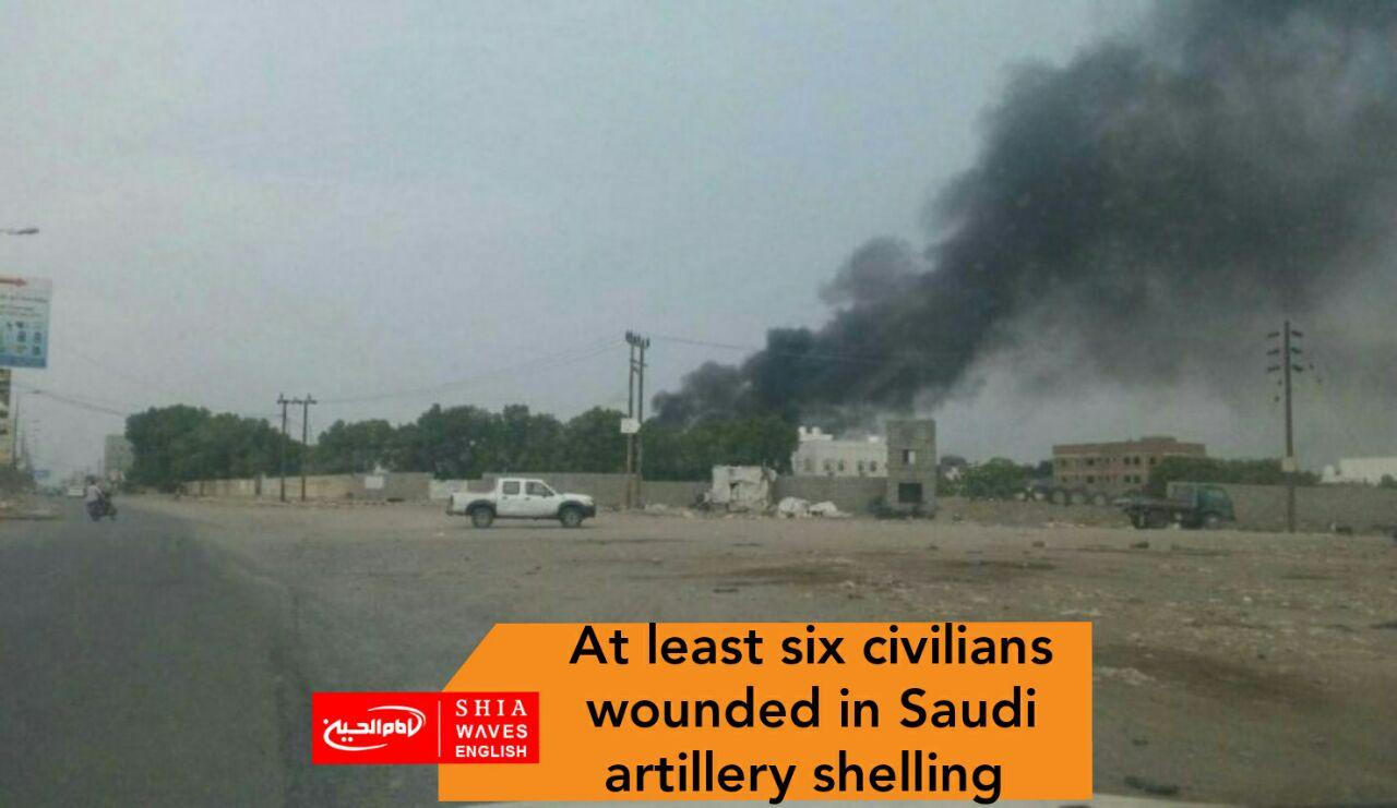 Photo of At least six civilians wounded in Saudi artillery shelling