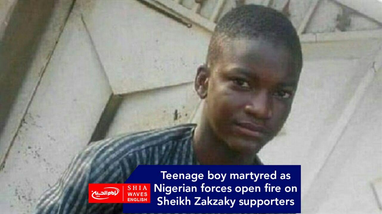 Photo of Teenage boy martyred as Nigerian forces open fire on Sheikh Zakzaky supporters