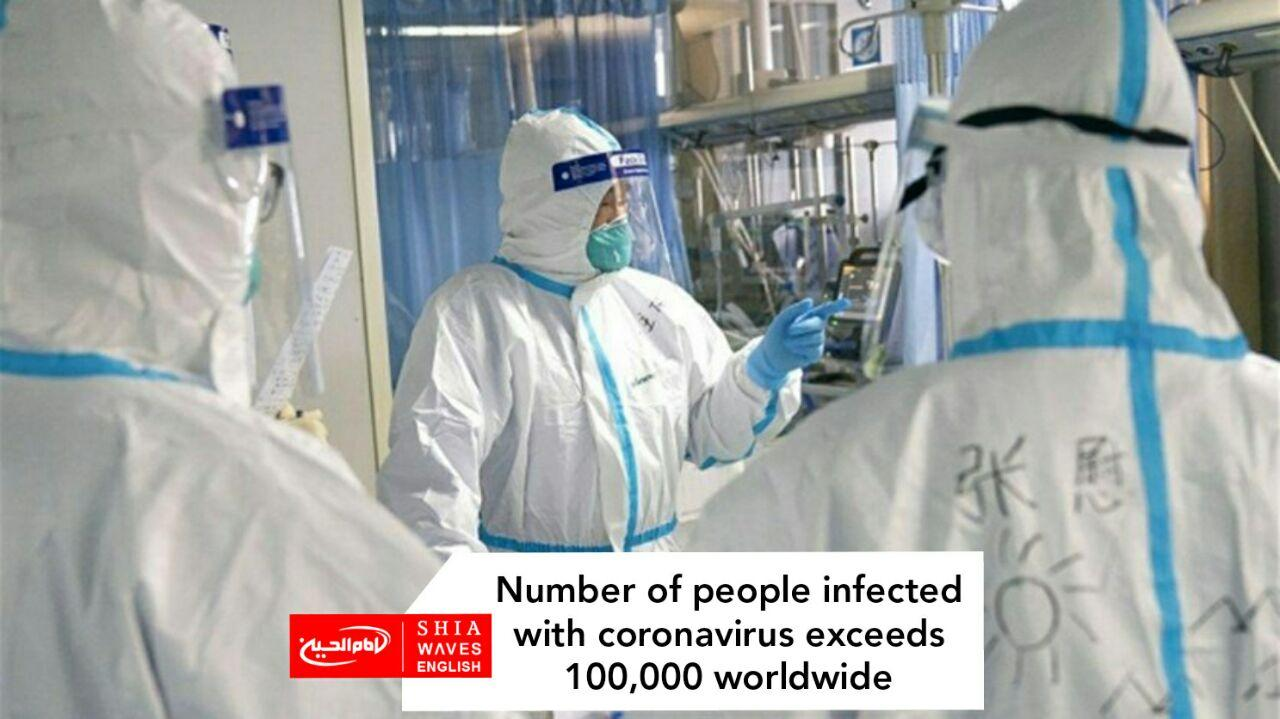Photo of Number of people infected with coronavirus exceeds 100,000 worldwide