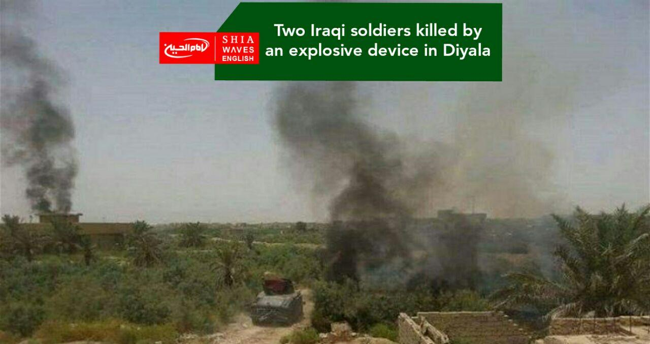 Photo of Two Iraqi soldiers killed by an explosive device in Diyala