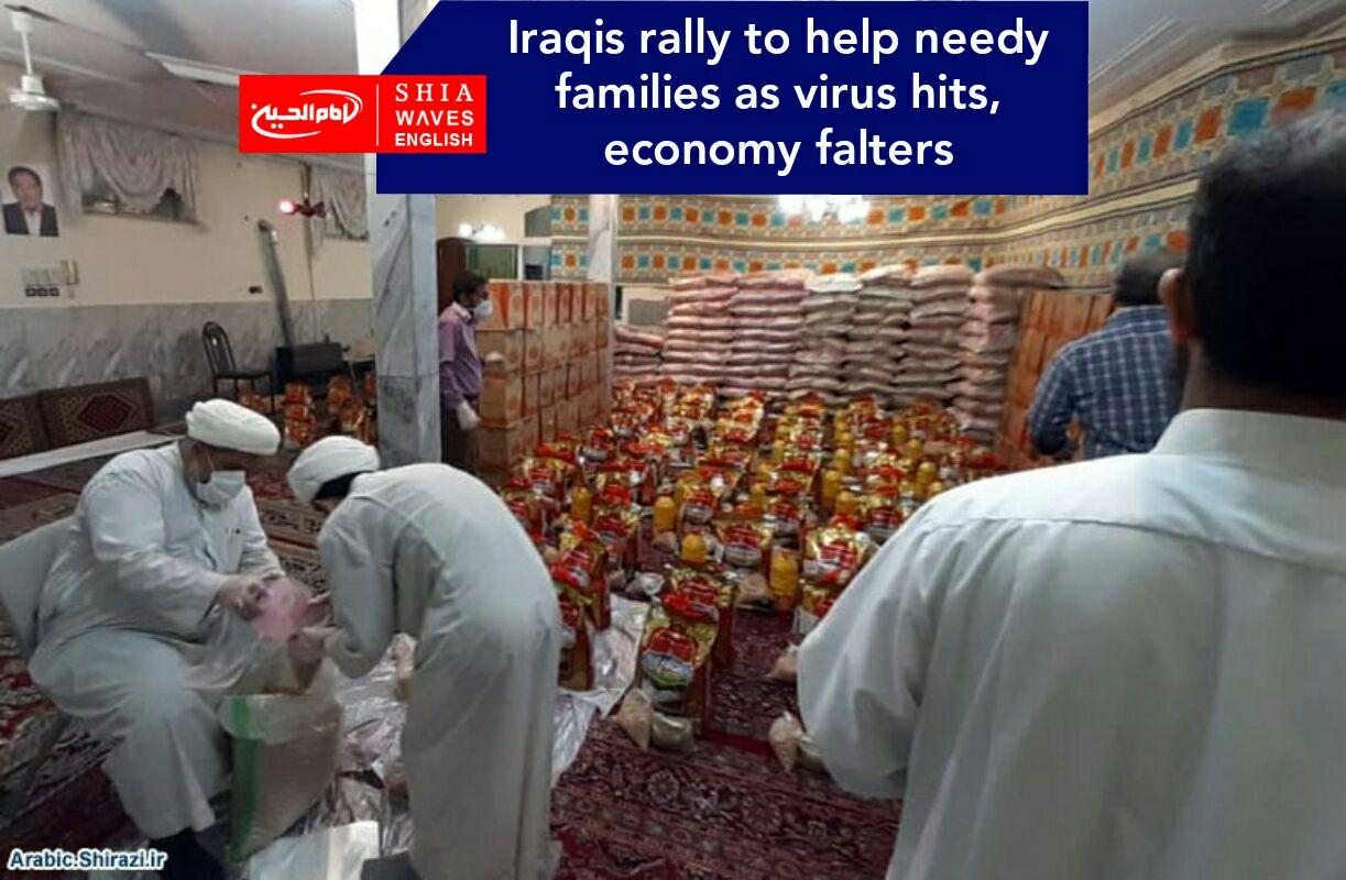 Photo of Iraqis rally to help needy families as virus hits, economy falters