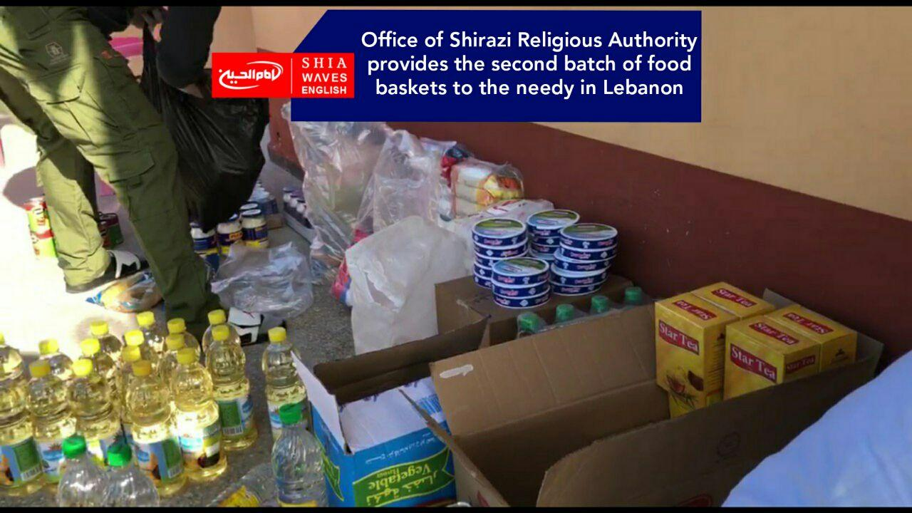Photo of Office of Shirazi Religious Authority provides the second batch of food baskets to the needy in Lebanon