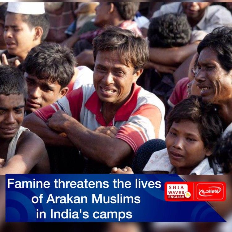 Photo of Famine threatens the lives of Arakan Muslims in India's camps