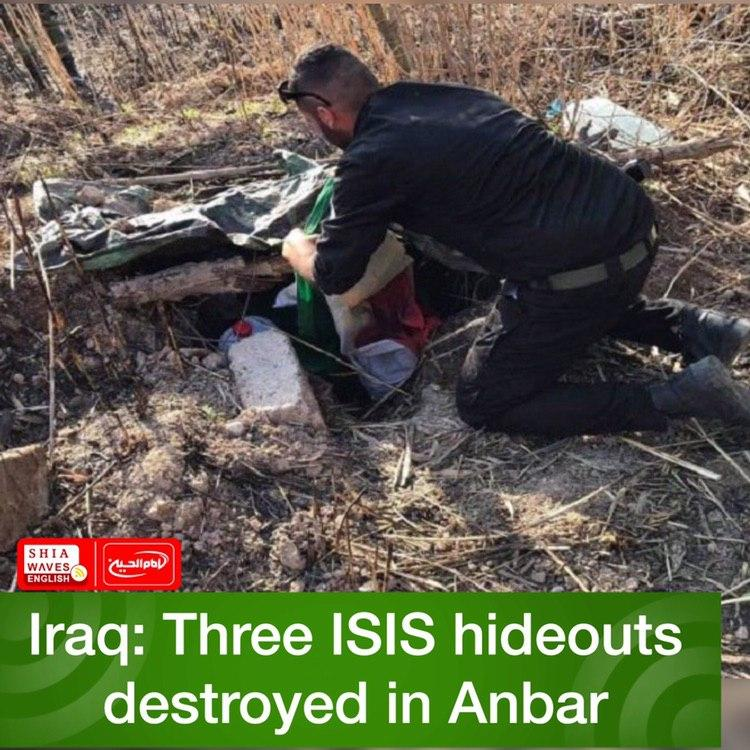 Photo of Iraq: Three ISIS hideouts destroyed in Anbar