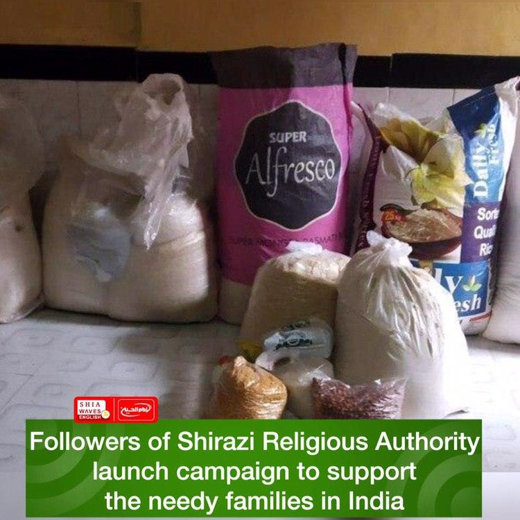 Photo of Followers of Shirazi Religious Authority launch campaign to support the needy families in India
