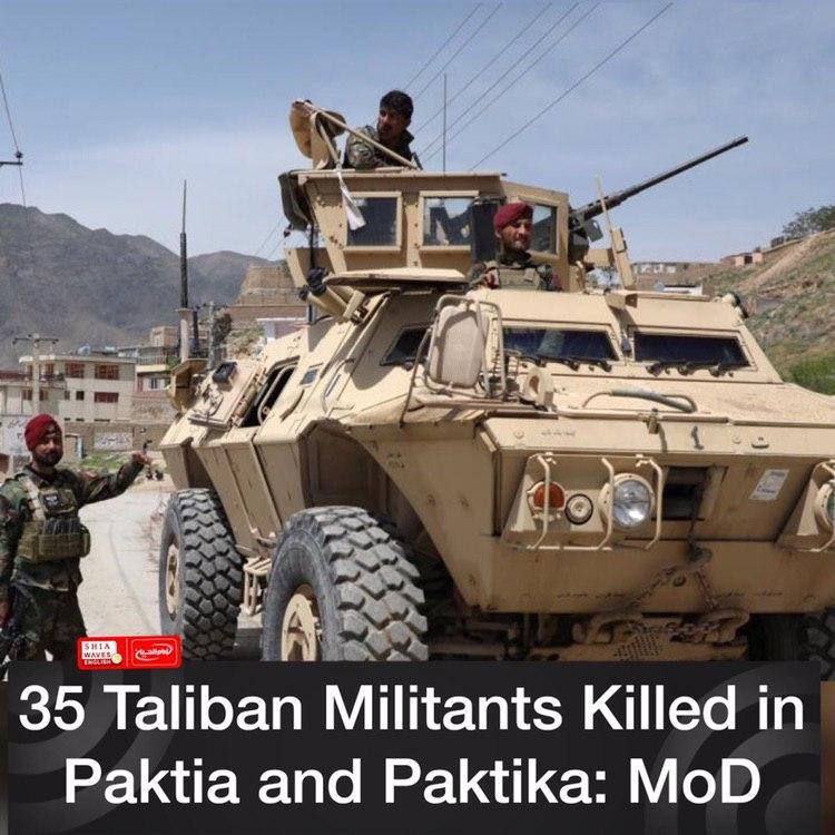 Photo of 35 Taliban Militants Killed in Paktia and Paktika: MoD