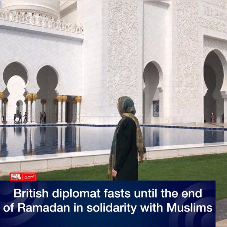 Photo of British diplomat fasts until the end of Ramadan in solidarity with Muslims