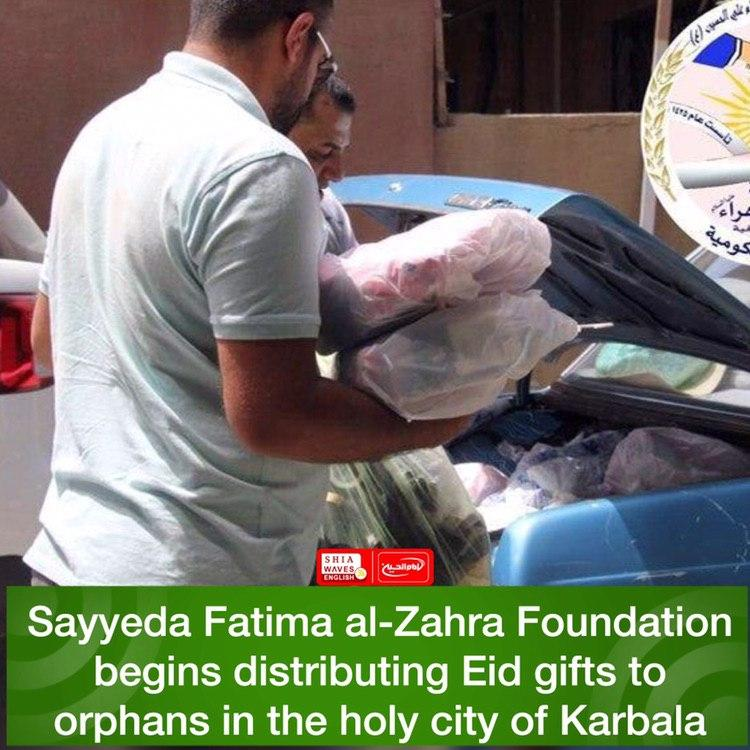 Photo of Sayyeda Fatima al-Zahra Foundation begins distributing Eid gifts to orphans in the holy city of Karbala