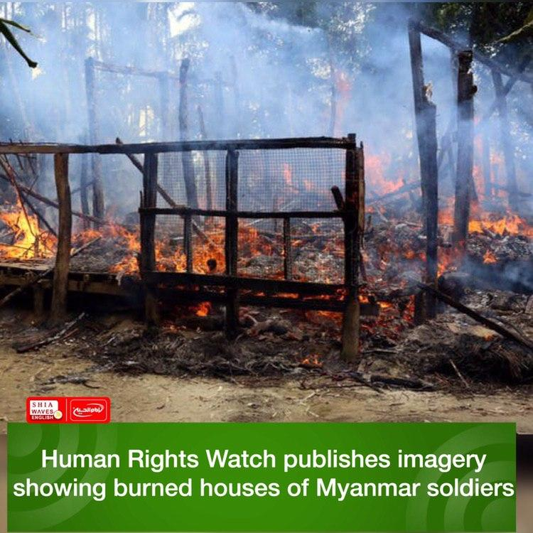 Photo of Human Rights Watch publishes imagery showing burned houses of Myanmar soldiers