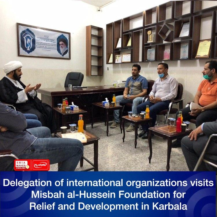 Photo of Delegation of international organizations visits Misbah al-Hussein Foundation for Relief and Development in Karbala