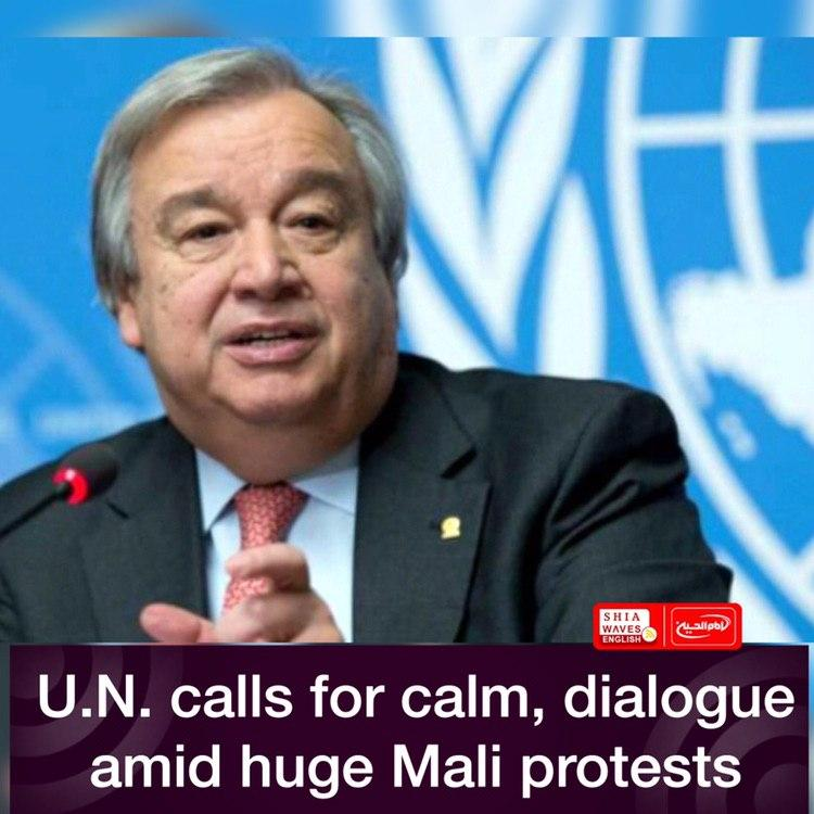 Photo of U.N. calls for calm, dialogue amid huge Mali protests