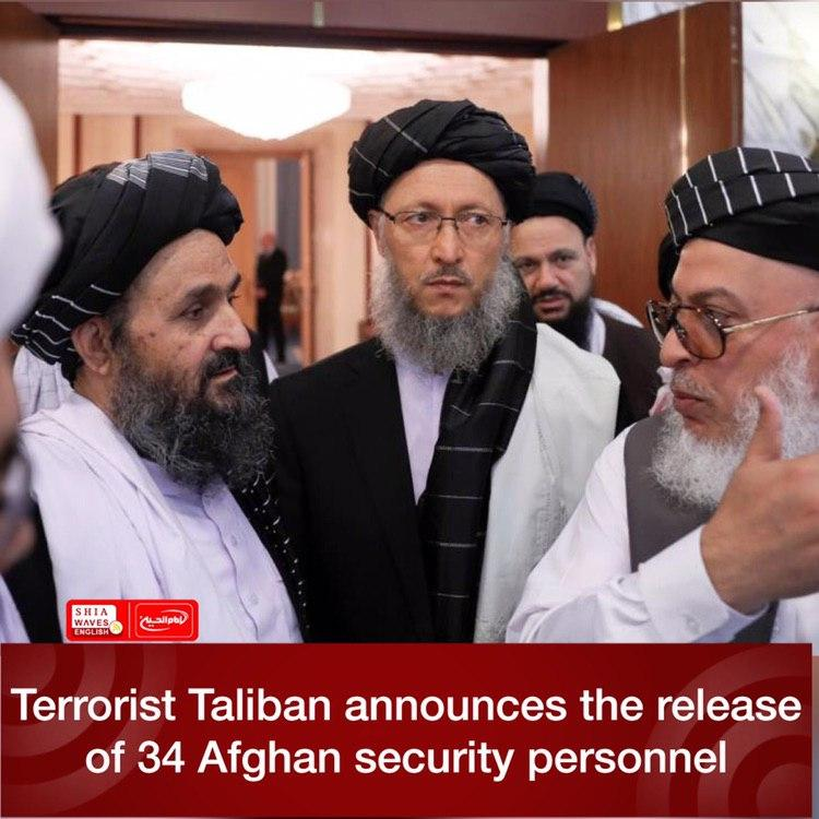Photo of Terrorist Taliban announces the release of 34 Afghan security personnel