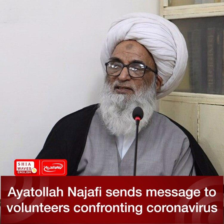 Photo of Ayatollah Najafi sends message to volunteers confronting coronavirus
