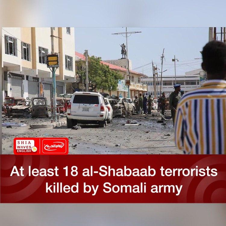 Photo of At least 18 al-Shabaab terrorists killed by Somali army