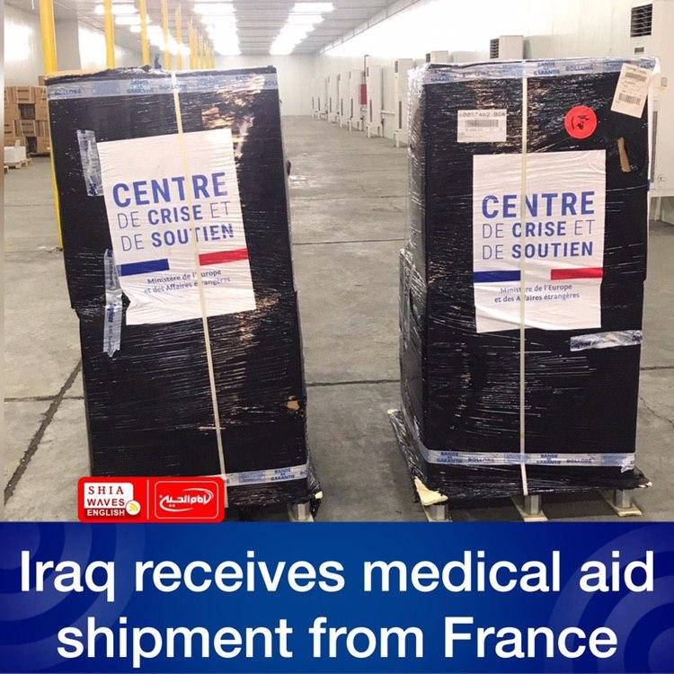 Photo of Iraq receives medical aid shipment from France