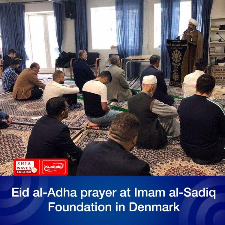 Photo of Eid al-Adha prayer at Imam al-Sadiq Foundation in Denmark