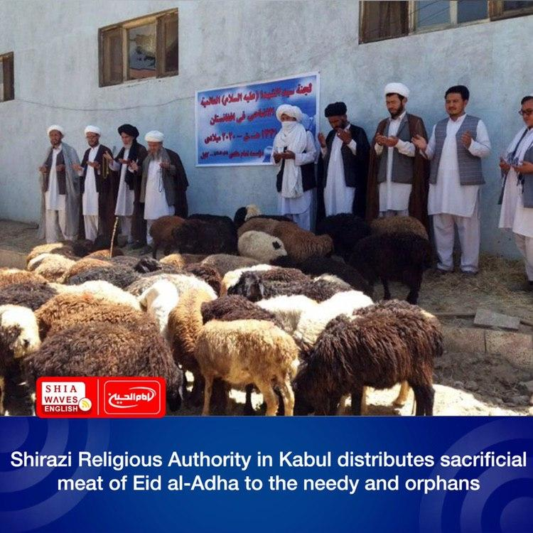 Photo of Shirazi Religious Authority in Kabul distributes sacrificial meat of Eid al-Adha to the needy and orphans