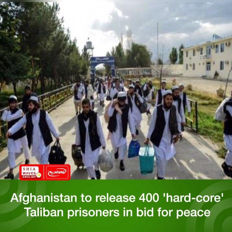 Photo of Afghanistan to release 400 'hard-core' Taliban prisoners in bid for peace