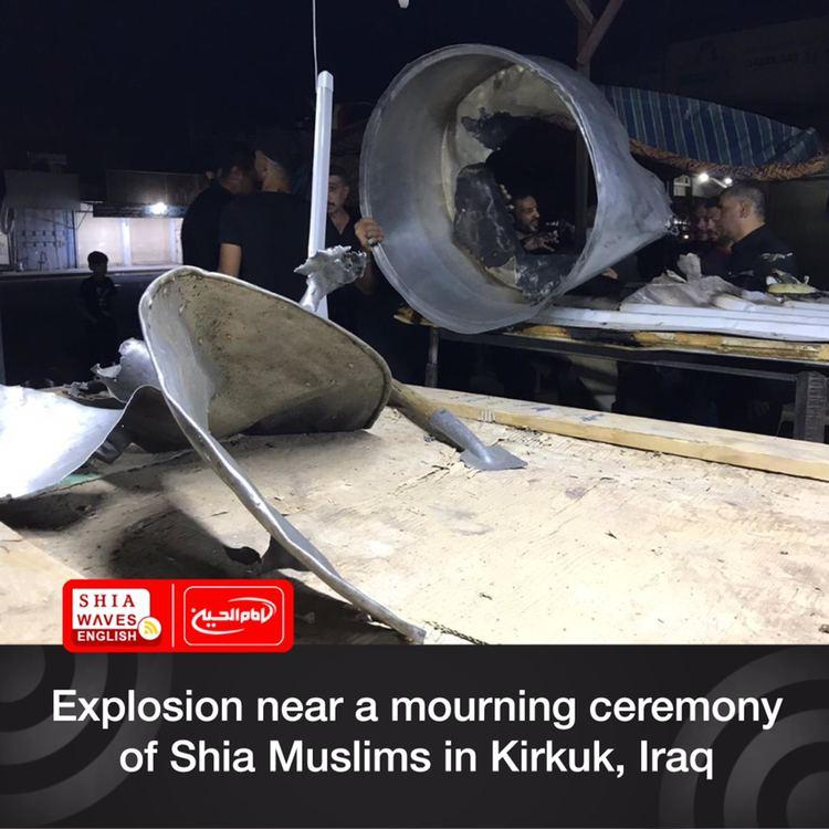 Photo of Explosion near a mourning ceremony of Shia Muslims in Kirkuk, Iraq