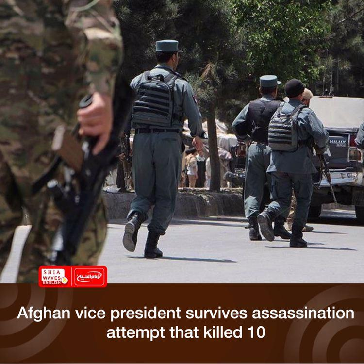 Photo of Afghan vice president survives assassination attempt that killed 10